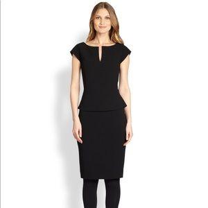 Tory Burch Katy Peplum Dress Black 12